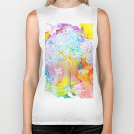 Tree of life painting Biker Tank