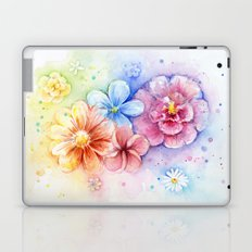 Flowers Watercolor Floral Colorful Rainbow Painting Laptop & iPad Skin