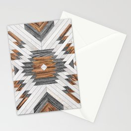 Urban Tribal Pattern No.8 - Aztec - Wood Stationery Cards