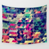 shapes Wall Tapestries featuring Atym by Spires