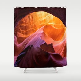 Antelope Canyon, layers and colours Shower Curtain