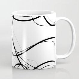Flowing Black Contrast Lines Coffee Mug