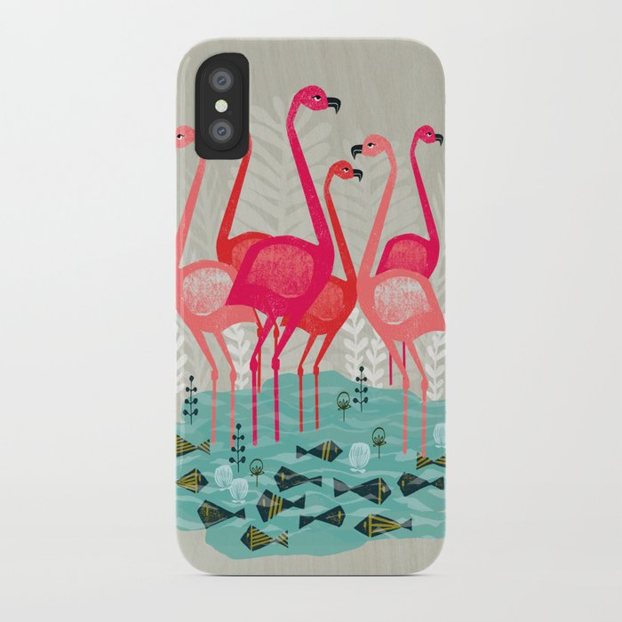Flamingos by Andrea Lauren  iPhone Case