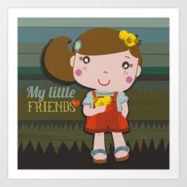 My little friends Art Print
