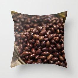 Black Israeli Olives Throw Pillow