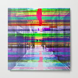 Reflected only barely as doors open recorded sums. Metal Print