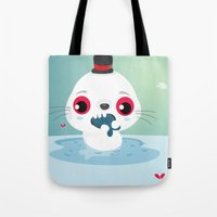 seal Tote Bags featuring Seal by Maria Jose Da Luz