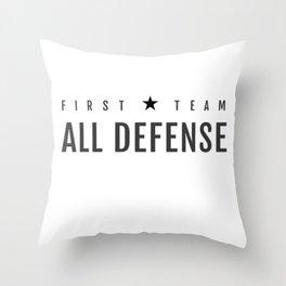 First Team All Defense Throw Pillow