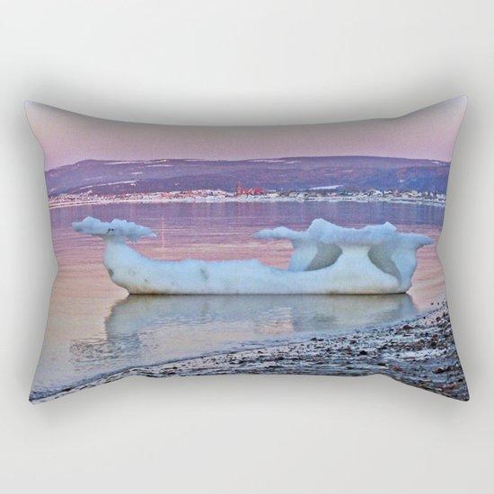 Viking Ice Ship Portrait Rectangular Pillow