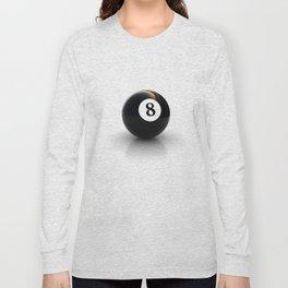 black pool billiard ball number 8 Long Sleeve T-shirt