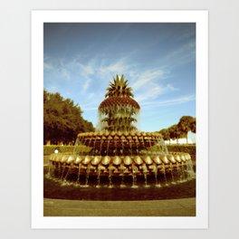 Pineapple Fountain, Waterfront Park Art Print