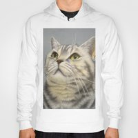 british Hoodies featuring British cat by Frederica Morgan