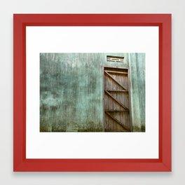Lonely Door Framed Art Print