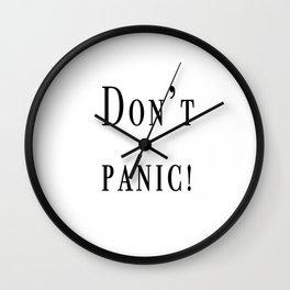 Dont pan Wall Clock