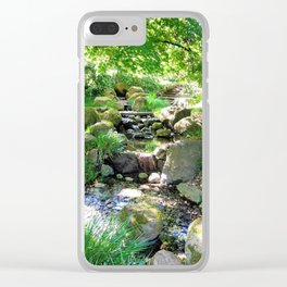 Tranquil stream Clear iPhone Case