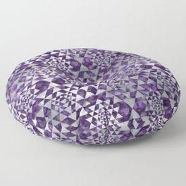 Sri Yantra  / Sri Chakra Pattern - Pearl Amethyst Floor Pillow
