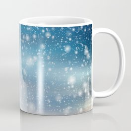 Snow Bokeh Blue Pattern Winter Snowing Abstract Coffee Mug