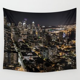 Seattle from the Space Needle Wall Tapestry