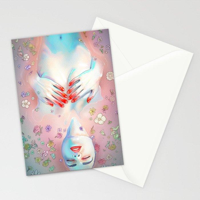 Flower Bath 5 Stationery Cards
