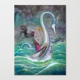 Six of Wands Fantasy Tarot Art  Canvas Print
