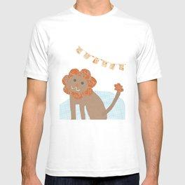 lion collage T-shirt