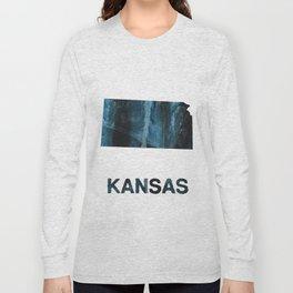 Kansas map Long Sleeve T-shirt