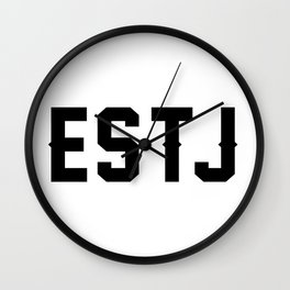 ESTJ Wall Clock