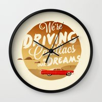 lorde Wall Clocks featuring We're Driving Cadillacs In Our Dreams - Lorde: Royals  by Four & Thirty