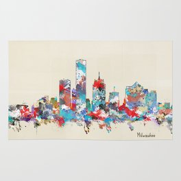 Milwaukee Wisconsin skyline Rug