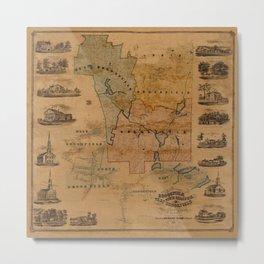 Map Of Brookfield 1855 Metal Print