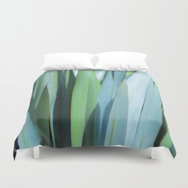 blue and green leaves Duvet Cover