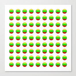 Flag of Lithuania 2– Lietuva,Lithuanian,Lietuvos,vilnius,kaunas,baltic,viking. Canvas Print