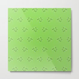 Mint faux dice pattern Metal Print