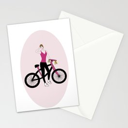Love on two wheels Stationery Cards