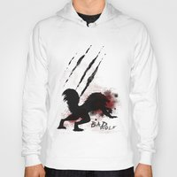 bad wolf Hoodies featuring Bad wolf by Halopromise