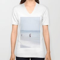 swimming V-neck T-shirts featuring Swimming by Pure Nature Photos