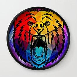 Rainbow Bear Wall Clock