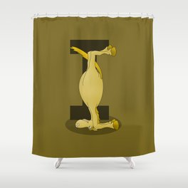 Pony Monogram Letter I Shower Curtain