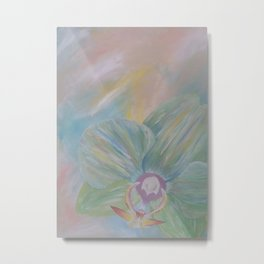 Tipsy Orchid Metal Print