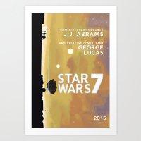 Star Wars Episode VII Fan Art Art Print