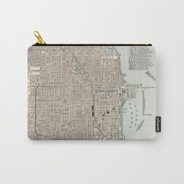 Vintage Map of Chicago (1893) Carry-All Pouch