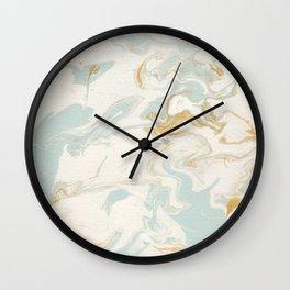 Marble - Cream & Blue Wall Clock