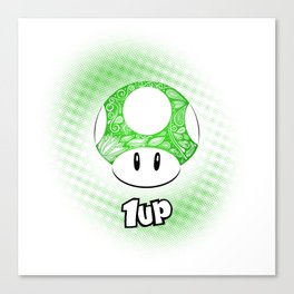 1-UP from Mario Canvas Print
