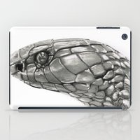 snake iPad Cases featuring Snake by donotseemeart