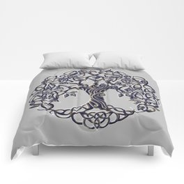 Tree of Life Silver Comforters