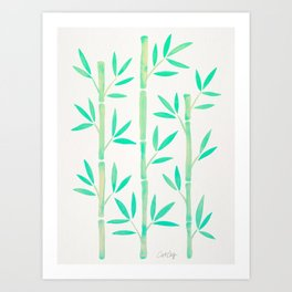 Bamboo Stems – Mint Palette Art Print