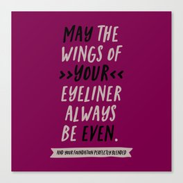 WING OF YOUR EYELINER Canvas Print