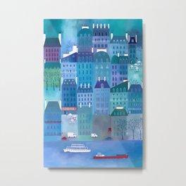Paris Blues Painting Metal Print