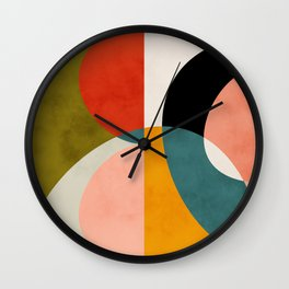 geometry shapes 3 Wall Clock