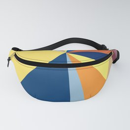 abstract pattern geometric triangle mosaic background low poly style Fanny Pack